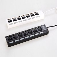 Wholesale Wholesale Universal Chargers For Laptops - 7 Ports USB Hub Laptop 7 Ports USB Adapter With Power on off Switch For PC Laptop Computer Universal 7-Port USB 2.0 Multi Charger Hub