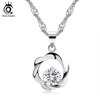S925 Sterling Sliver Necklace, Shamballa Bead Pendant, Precious Austria Crystal, NickelLead Free, Proveedor de joyas al por mayor ON08