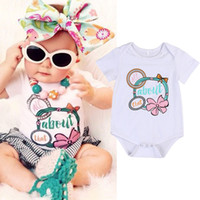 Wholesale Boys Pajamas Size 3t - Newborn Baby Rompers Boutique Girl Clothes Toddler White Outfit Next Kids Leotards For Girls Boys Cotton Sleepwear Jumpsuit Pajamas Onesies
