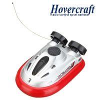 Wholesale Toys Micro Boats - Wholesale-Hot Sale New Arrival 4 Color Mini Micro I R RC Remote Control Sport Hovercraft Hover Boat Toy 777-220 FSWB