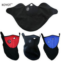 Wholesale Winter Motorcycle Hat - Wholesale- 5PCS Thermal Neck Warmers Fleece Balaclavas Hat Headgear Winter Skiing Ear Windproof Face Mask Motorcycle Bicycle Scarf