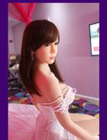 muñecas de amor real de alta calidad al por mayor-NUEVO 165 cm de Calidad Superior Tan Piel TPE Muñeca Sexual Para Hombres Vagina Real Coño Chino Realista Muñeca de Amor Adulto de Silicona completa Juguete Adulto