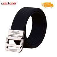 Wholesale Canvas Belt Ring Buckle - EverToner Tactical Web Belt for Men, Nylon CQB Riggers Belt with D-ring Buckle
