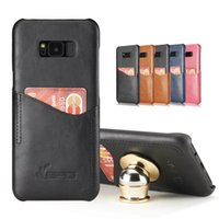 Wholesale Case Car Design - For Samsung S8 Plus BRG Wallet Case for Iphone 7 6 6s Plus PU Leather With Card Slot Magnetic Design For Car Holder holder not include