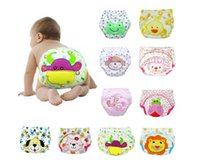 Wholesale Cheap Baby Cloth Diaper - 2017 baby cartoon diaper children's cotton learning training pants new cheap children waterproof diapers factory direct 10pcs