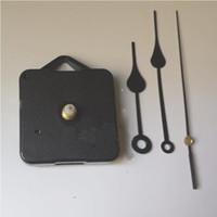 mecanismo de fuso do kit de movimento de relógio de quartzo venda por atacado-Home relógios DIY relógio de quartzo movimento Kit Black Clock acessórios Spindle Mechanism Repair com conjuntos de mão Shaft Length 13 Best
