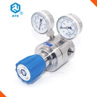Wholesale AFK single stage diaphragm type L stainless steel single stage co2 gas regulator oxygen low pressure regulator with gauge