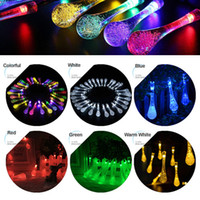 Wholesale Water Certificates - 30 Leds Solar String Lights Outdoor lights Water Drop Party Christmas Lights LED Strings Light Lamp Waterproof CE Certificates Top Quality