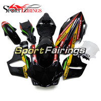 Injection Mold sportbike racing - Racing Black Red Injection Fairings For Yamaha YZF1000 R1 Plastic Motorcycle Fairing Kit Fiberglass Sportbike Cowlings