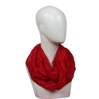 Wholesale Crinkled Scarves - Wholesale- New Design 2016 Hot Sale Women Cotton Winter and Autumn Scarf Soft Wrap Shawl Scarf Long Stole Crinkle Candy Colors Aug26