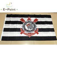 Wholesale cm club - Brazil Football Club (Campeonato Brasileiro Serie A) SC Corinthians Paulista hanging decoration Flag Banner 3ft*5ft (150cm*90cm)