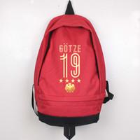 Wholesale mario characters resale online - Mario Gotze backpack daypack Cool schoolbag Football rucksack Sport school bag Outdoor day pack