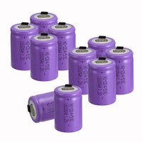 Wholesale Sub C Rechargeable Battery - analyzer New arrival Purple color 10 PCS 4 5 SubC 4 5 Sub C battery Rechargeable Ni-Cd with Tab 1.2V 1800 mAh