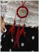 indische traumfänger halsketten großhandel-Lange Design Quaste Feder Halskette Indian Dream Catcher Halskette