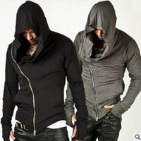 assassins creed cardigan al por mayor-Venta al por mayor- Moda Assassins Creed Hooded Men Hoodies Hombre Causal hoodies Ropa de abrigo Chándal Sudadera Talla M-XXL