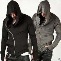 Wholesale assassin hoodies - Wholesale- Fashion Assassins Creed Hooded Men Hoodies Male Causal hoodies Outerwear Tracksuit Sweatshirt Size M-XXL