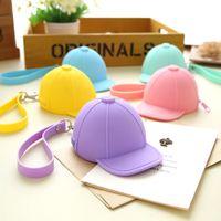 Wholesale Ladies Hats Bags Wholesale - Wholesale- 1pcs novelty coin purses,Candy color Hat silicone zero wallet women change purse,lady zero wallets,coin bag Free shipping
