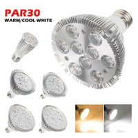 Wholesale Par Dim - triac dimmable led bulbs lights par20 par30 par30 led spotlight 9W 10W 14W 18W 24W 30W LED PAR lamps silicon controlled dimmer