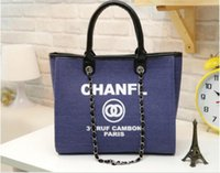 Wholesale Famous fashion brand name women handbags new travel Canvas Shoulder bag chains of large capacity bags