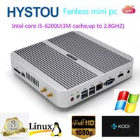 Wholesale Intel Skylake Processor i5 u Mini Desktop Computer Fanless DDR3L dual Memory HDMI VGA Gigablt Lan HTPC Windows RS232 Optional