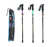 Wholesale Hiking Trekking Walking Pole - 2017 Hot Fashion 4-section Aluminum Alloy Adjustable Outdoor Canes Camping Hiking Mountain-climbing Trekking Poles Walking Sticks 3 Colors