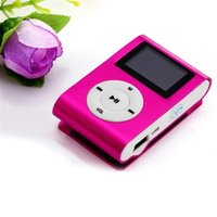 Wholesale Mini Radios Hot Colors - Wholesale- Hot Sale LCD Metal High Quality Clip Mp3 Music Player With Card Slot Mini Mp3 Player 6 Colors