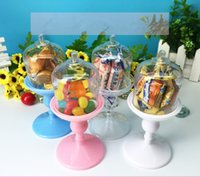 Wholesale Wedding supplies creative candy box plastic goblet candy box color for option