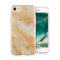 Marble Soft TPU Case Hard Pc Hybrid Case IML Durable Ultra flip Cover para iPhone 8 7 6s 6 Plus Opp Bag