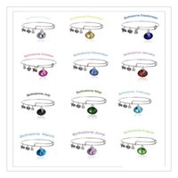 Wholesale Expandable Rings - Fashion Adjustable Bracelets Alex And Ani Crystal Birthstone Charms Bracelets Wiring Expandable Bangles Band Cuffs Trendy Women Jewelry