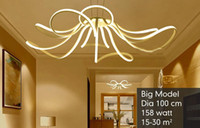 Wholesale Remote Control Butterflies - Modern LED Pendant Light Living Room Decor Acrylic Dimmable Flower Shape Hanging Lamp with Butterfly Lamparas Lustre