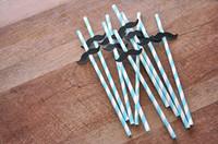 Wholesale Cheap Chevron - Wholesale-cheap Mustache Little Man Chevron Paper Straws party decorations wedding birthday bridal baby shower favors