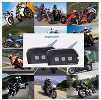 Bluetooth Radios Für Motorräder Kaufen -EJEAS - TTS Motorrad Bluetooth 4.0 Riding Intercom Vier Personen Full Duplex Talking Wasserdicht Inter-Phone FM Radio-Funktion