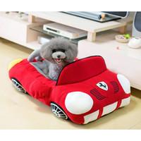 ingrosso letti divani letto-Cool Sports Car a forma di casa per cani Pet Chihuahua Yorkshire Small Dog Cat House impermeabile caldo Soft Puppy Sofa Kennel 3 colori