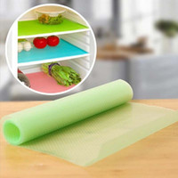 Wholesale Mats Eating - Wholesale- 4pcs Useful Mats Table Mats Insulation Pad Refrigerator Pad Absorption Waterproof Pad Kitchen Table Eat Mats