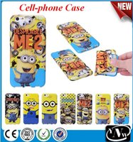 Wholesale Despicable Iphone Gel - Iphone Case Cute 3D Minion Minions Despicable Me Cartoon Lovely Soft Gel Rubber Silicone Protection Case ZPG024