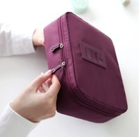 Wholesale Gray Clutch Handbag - New Women's Bag Travel Makeup Bags waterproof Cosmetic Bag Pouch Clutch Handbag Casual Purses VS Kylie makeup bag