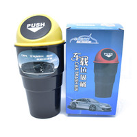 Wholesale Round Office Desks - Mini Round Car Trash Bin Rubbish For Car Office Home Desk Garbage Dustbin Box Dust Holder Convenient Trash Can Free Shipping ZA2800
