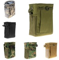 Wholesale plain magazine - Molle Ammo Pouch Tactical Gun Magazine Dump Drop Reloader Bag Utility for Hunting Rifle Magazine Pouch