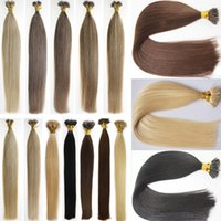 Wholesale Micro Nano Rings - New style nano micro ring hair extensions 100pcs pack full head russian pre-bonded human hair extensions various color available