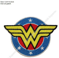Wholesale Wonder Woman Dc Comics - Wonder Woman shield Iron On Patches DC COMICS 2017 TV Movie Series Cosplay badge clothes Costume Supplies