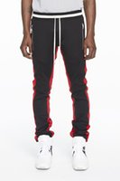 Wholesale Full God - 2017 New Green Colour Delivery Now Fear Of God Fifth Collection FOG Justin Bieber side zipper casual sweatpants men hiphop jogger pants