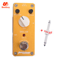 Wholesale Dc Delay - AROMA Mini Effect Pedal ADL-3 Delay AC DC Adapter Jack True Bypass