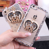 Роскошный DIY Rhinestone Crown Back Cover Модный 3D-телефон для iphone 5S 6S 7plus для Samsung A8 S4 S5 S6 S7