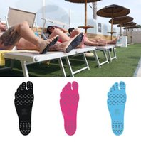 Wholesale Summer Nakefit soles Invisible Beach Shoes foot pads nakefit shoes beach foot feet pads Stick on Soles Sticky Pads KKA1910