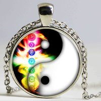 Wholesale Bagua Map - Bagua map Fashion necklace unisex necklace factory outlet Disc Necklace Galaxy vintage Jewelry Circle pearl jewelry
