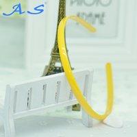 Wholesale Cheap Cute Baby Headbands - Factory direct sale PC 8.5 mm cheap cute yellow baby girl headbands 12 pcs bag