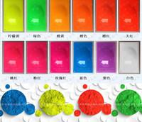 tırnak cilası karışık renkler toptan satış-Oje / Baskı / Boyama / El Sanatları Hediyelik Toptan-60gram x Karışık 6 NEON Renkler Floresan Fosfor Pigment Tozu