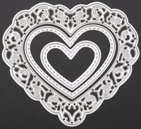 Wholesale Free Scrapbooking Supplies - Free shipping Brand New 3pcs set Metal Love Heart Cutting Dies Stencils for DIY Cutting Dies Die Cut Stencil Decorative Scrapbooking Craft