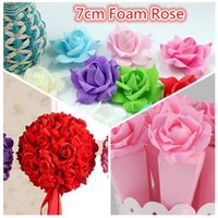Wholesale Cheap Clothes Decorations - Wholesale- Cheap 10pcs PE Foam Pentagon Rose Artificial Flowers For Wedding Home Decoration Mariage Rosa Flores Clothing Hats Accessories