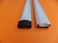 cubierta de perfil de tira de led al por mayor-Envío gratuito Venta caliente 100 m (40 pzas) mucho, 2,5 m por pieza, perfil de aluminio led para tiras de led con cubierta difusa lechosa o cubierta transparente